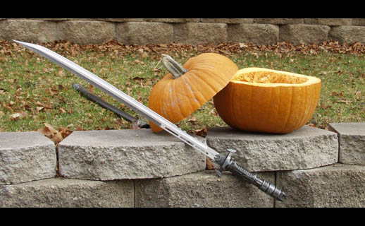 Katana and sliced pumpkin - 1.4M