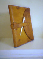 Leather civil war replica journal
